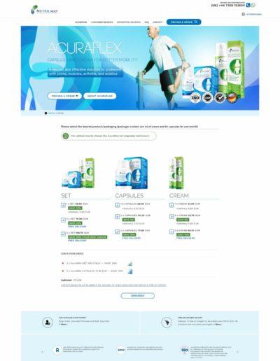 Acuraflex.com - order page
